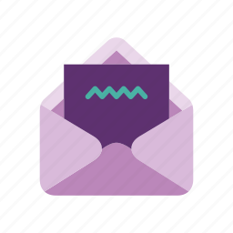 document, envelope, files, letter, mail, stationery, write icon