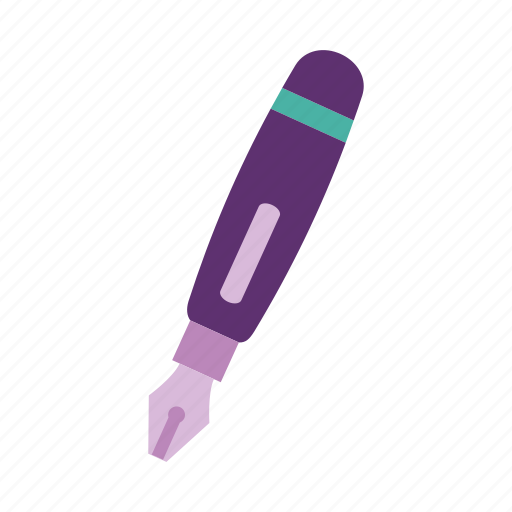 fountain pen, ink, office, pen, stationery, write, writing icon