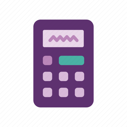 accounting, calculation, calculator, math, office, school, stationery icon
