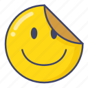 decorative, emoji, label, sticker icon