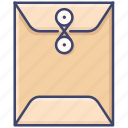 document, envelope, file, sealed icon