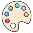 color, mixer, paint, palette icon