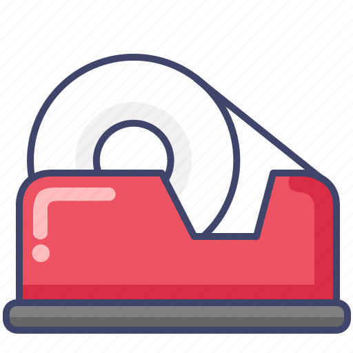 packaging, roll, stationary, tape icon