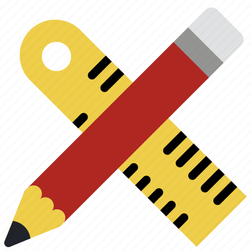 drawing, geometry, pencil, ruler, stationary icon