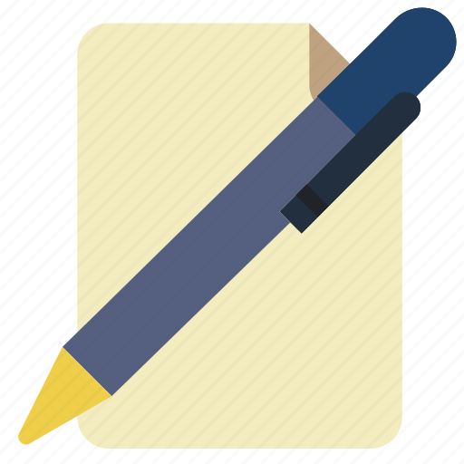 Drawing, page, paper, pen, stationary, writing icon - Download on Iconfinder