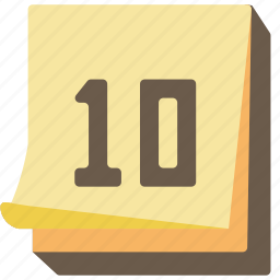 calendar, desk, paper, schedule, stationary, writing icon