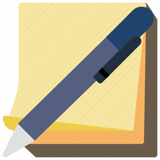 Drawing, paper, pen, stationary, stickies, writing icon - Download on Iconfinder