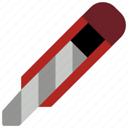 cut, knife, sharp, stanley, stationary icon