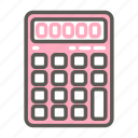 accounting, calculator, device, education, financial, office, stationery icon
