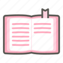 book, diary, notebook, office, school, stationery, text icon