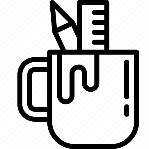 Mug, office, outline, school, stationary icon - Download on Iconfinder
