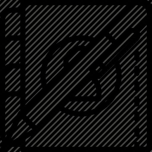 School, outline, office, organiser, pen, stationary icon