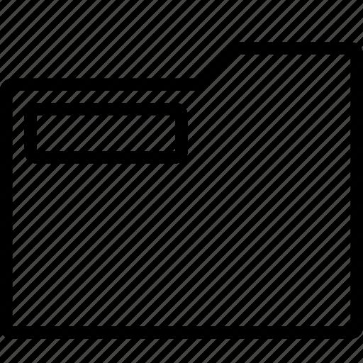 empty, folder, office, outline, school, stationary icon