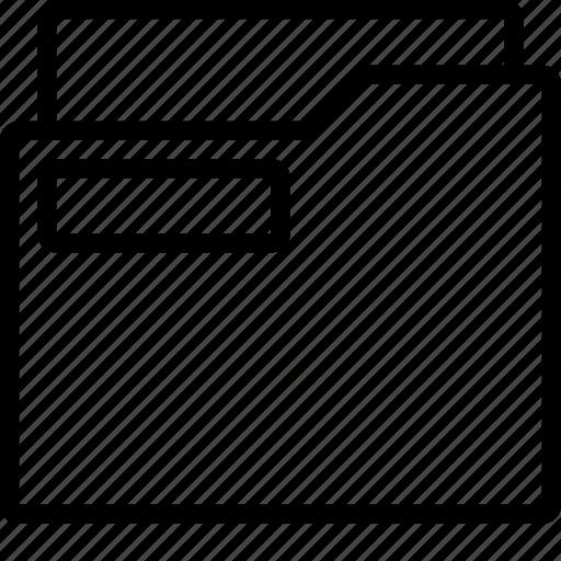 document, folder, office, outline, school, stationary icon