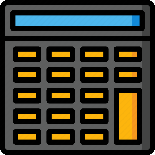 calculator, color, office, school, stationary, ultra icon