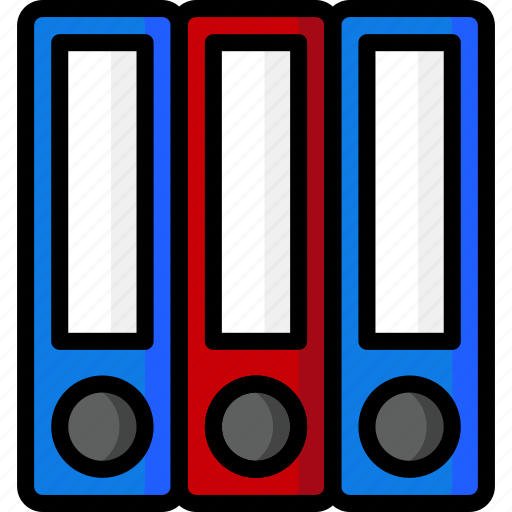 Folders, school, office, color, ultra, stationary icon