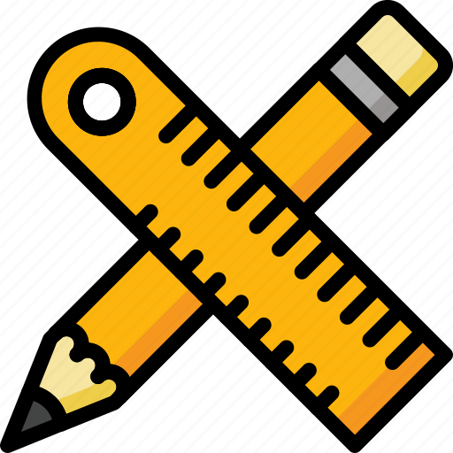 Color, office, pencil, ruler, school, stationary, ultra icon - Download on Iconfinder