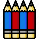color, office, pencils, school, stationary, ultra icon