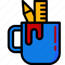color, mug, office, school, stationary, ultra icon