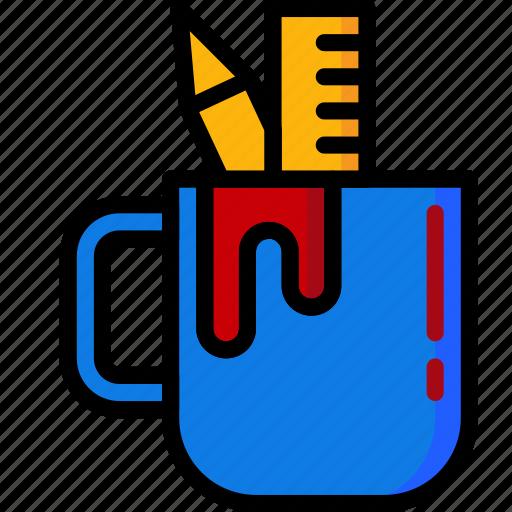 color, mug, office, school, stationary, ultra icon