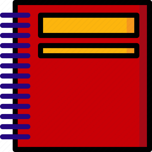 School, office, color, pad, ultra, stationary icon