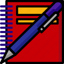 color, office, pad, pen, school, stationary, ultra icon
