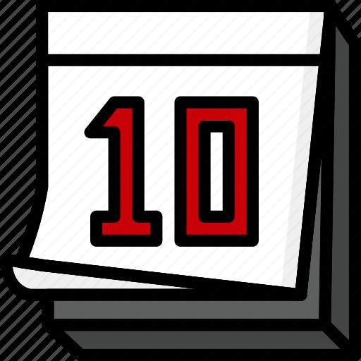 Calendar, color, desk, office, school, stationary, ultra icon - Download on Iconfinder