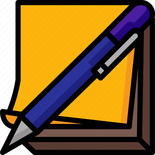 color, office, pen, school, stationary, stickies, ultra icon