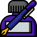color, ink, office, pen, pot, school, stationary icon