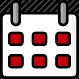 calendar, color, office, school, stationary, ultra icon
