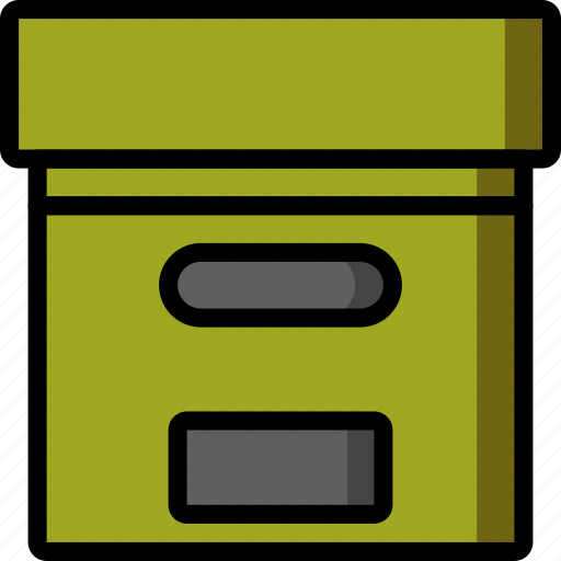 bank, box, color, office, school, stationary, ultra icon