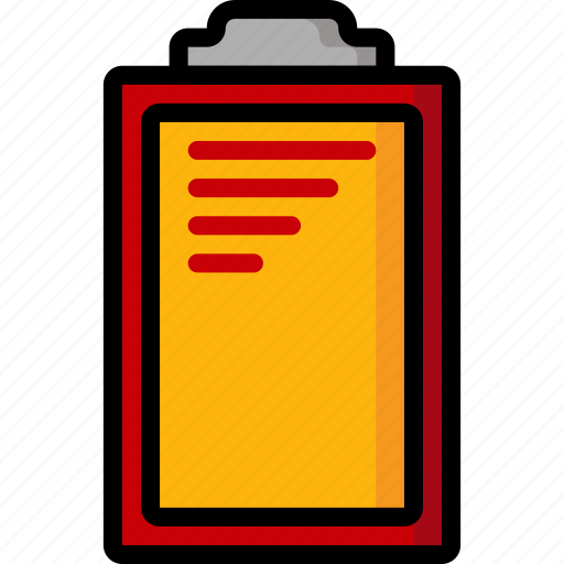 Clipboard, color, office, school, stationary, ultra icon - Download on Iconfinder