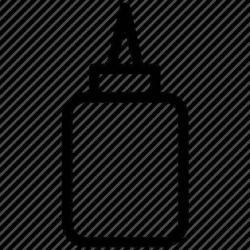 adhesive, glue, glue bottle, stationery glue icon