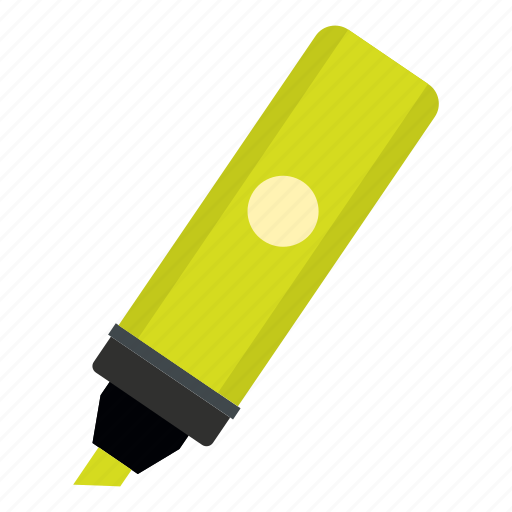 education, highlighter, ink, marker, pen, school, tool icon