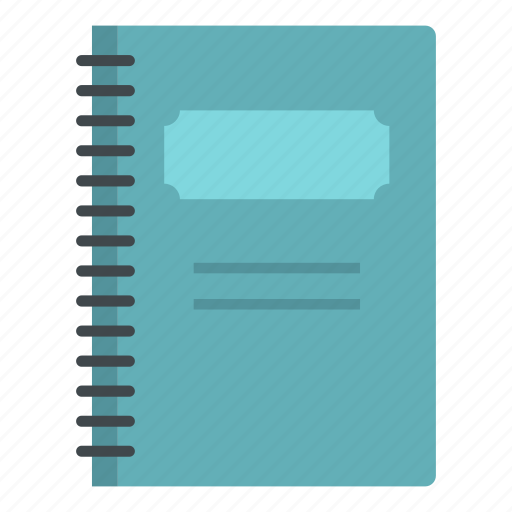 blue, closed, note, notebook, office, page, spiral icon