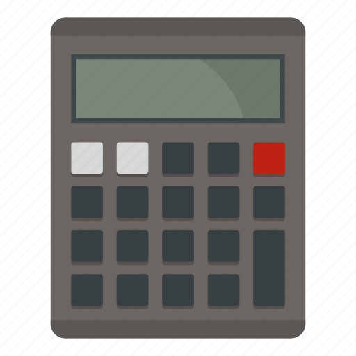 business, calculator, display, electronic, gray, math, mathematics icon