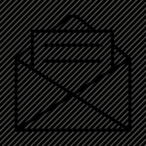 digital, ecommerce, envelope, interface, mail, media, stationery icon