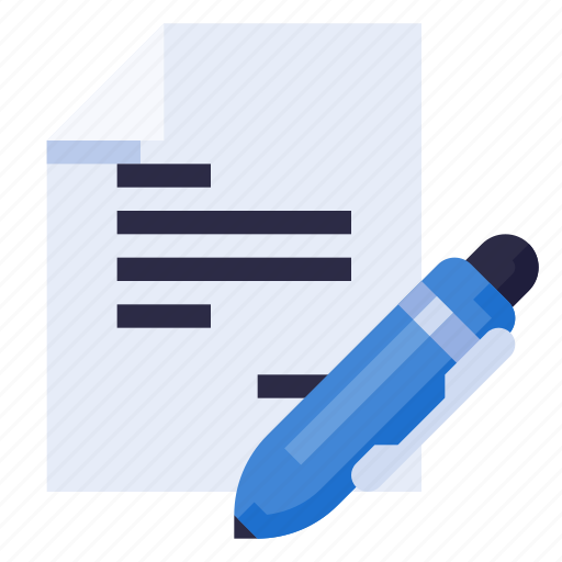 business, document, equipment, office, pen, stationery, work icon