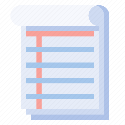business, equipment, notepad, office, stationery, work icon