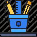 stationery, pencil, case, ruler, pen, office