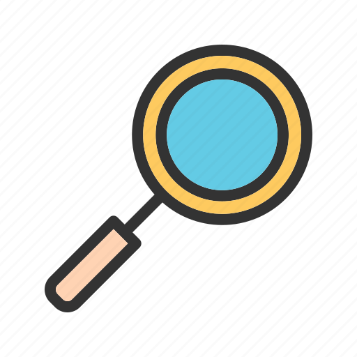 glass, look, magnify, magnifying, research, study, zoom icon