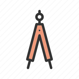 compass, draw, drawing, engineering, equipment, object, tool icon