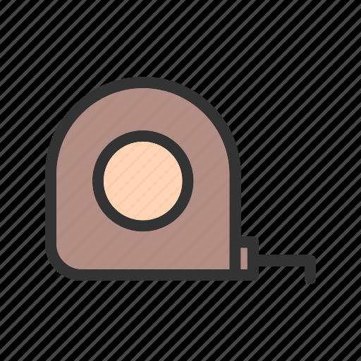 instrument, measure, measurement, measuring, object, tape icon