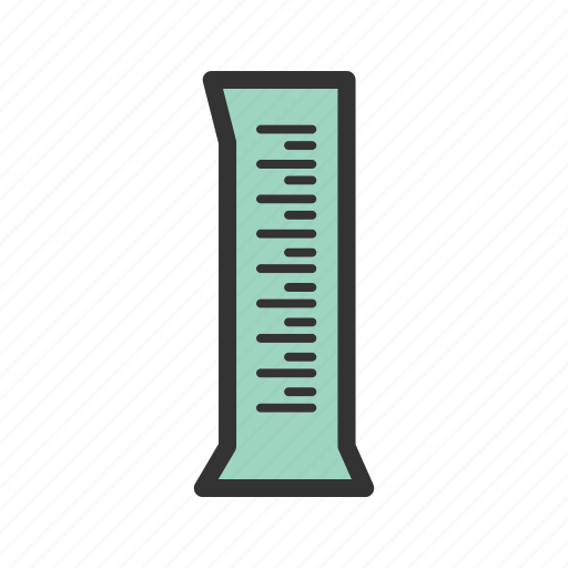 beaker, chemical, cylinder, lab, liquid, science, volume icon