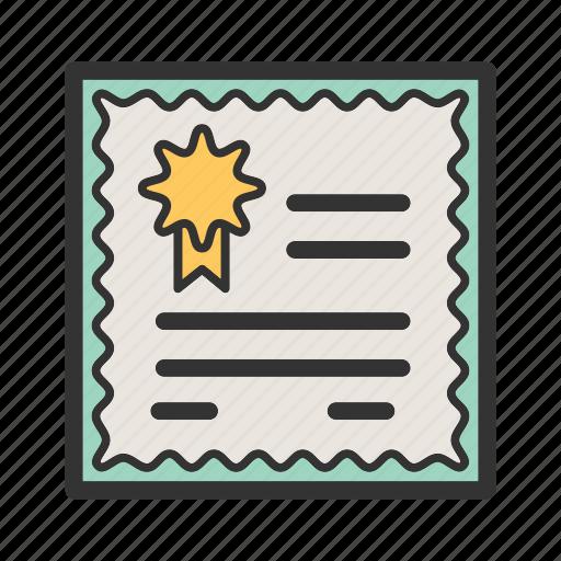 certificate, certificates, diploma, education, preschool, school, study icon