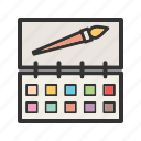 box, color, colors, colour, paint, school, set icon