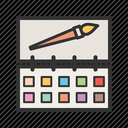 box, color, colors, colour, paint, school, set icon