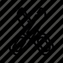 cut, cutout, scissors, shear, stationary, tool icon