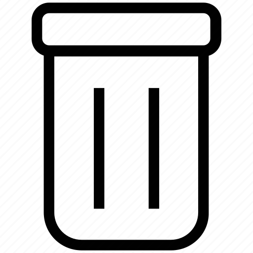 delete, dustbin, remove, trash, trash can, trashbin icon