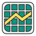 chart, graph, growth, pattern, screen icon